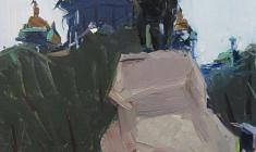 Арсений Семёнов. Александровский сад. Карт.м.,47,8х32,7. 1964