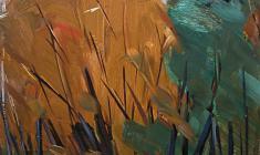 Арсений Семёнов. В Михайловском саду в Ленинграде. Карт.м.,48х33. 1961