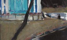 Арсений Семёнов. В парке. Карт.м.,48,7х34,9. 1961