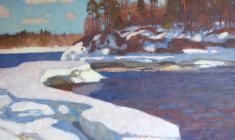 Николай Галахов. Северная весна. Х.м.,73х98. 1996