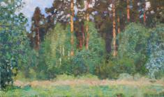 Николай Галахов. Сосны у пруда. Х.м., 98х74. 2003