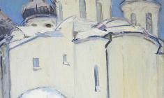 Арсений Семёнов. Собор Святой Софии в Новгороде. Х,м.,680х60. 1966