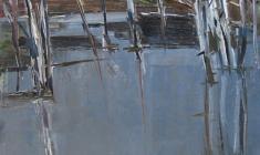 Арсений Семёнов.  Весенний ручей. Карт.м.,69х49,5. 1960