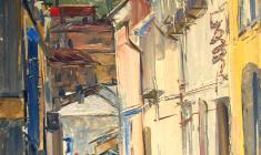 Арсений Семёнов. Улица в Ялте. Карт.м.,69х49,3. 1964