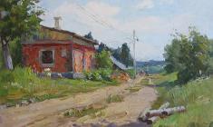 Александр Семёнов. Летний день. Карт.м.,24,7х34,7. 1951