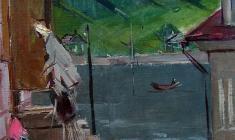 Арсений Семёнов. Старая Ладога. Х.м.,63,5х47. 1963