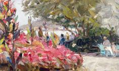 Арсений Семёнов. Ялта. В парке. Карт.м.,34,5х49,5. 1959