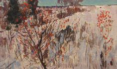 Н. Тимков. К вечеру.  Карт.м.,  33,8х46,2. 1963
