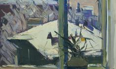 Арсений Семёнов.  Сумерки. Карт.м.,35х50. 1962