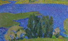 Н. Тимков. Река  Карт.м.,  27х33. 1970